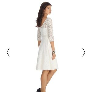 White House Black Market Lace Fit & Flare Dress